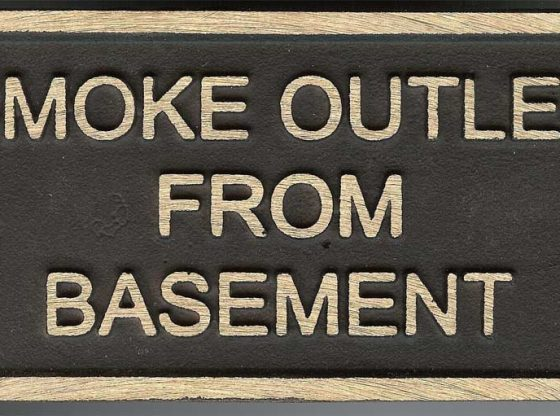 Smoke Outlet ID Plate